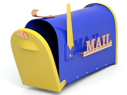 Mail box. 3D illustration isolated on white