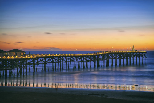 Crystal Pier in Pacific Beach, San Diego, CA